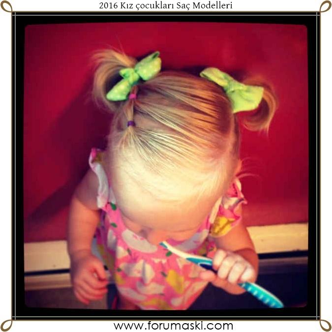 Прически для самых маленьких девочек на каждый день фото